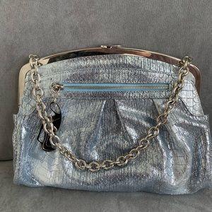 Giuseppe zanotti silver chain purse